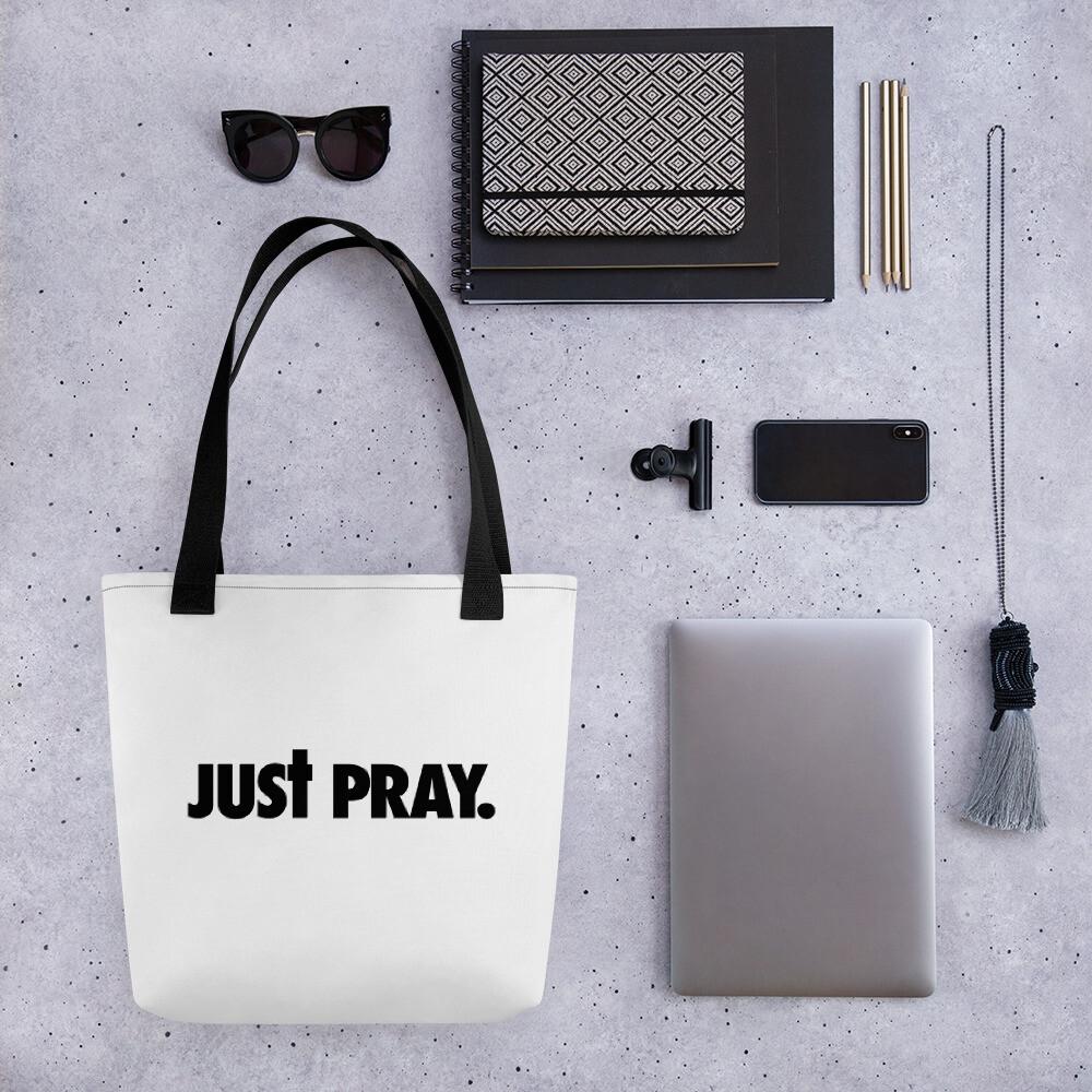Just Pray Tote bag