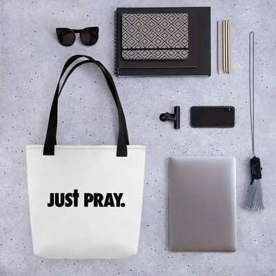 Just Pray Tote bag