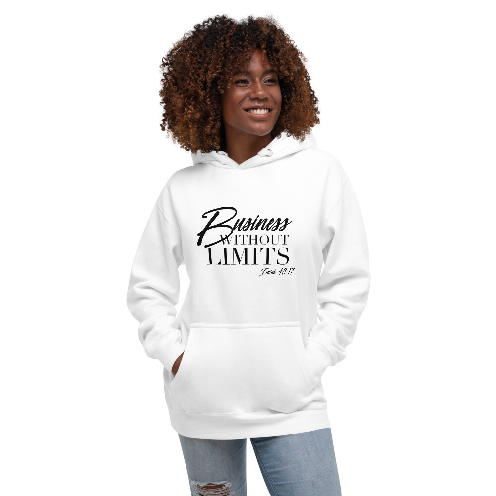 Business Without Limits| White Unisex Hoodie