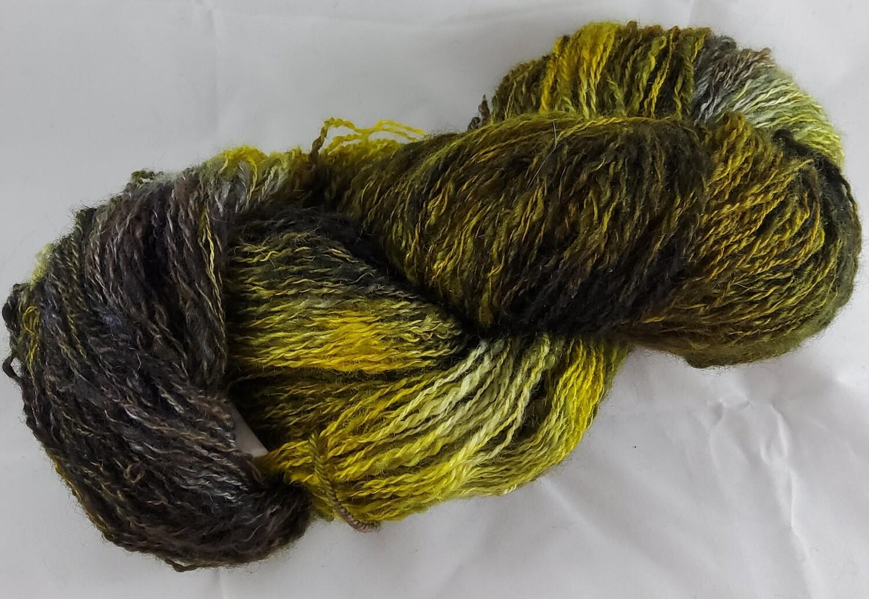 Lightning Bug | handdyed & handspun yarn