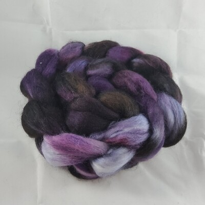 Purple Girl | handdyed fiber braid for spinning