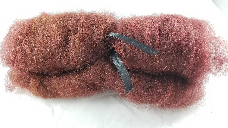 Mahagoni   handdyed batt for spinning