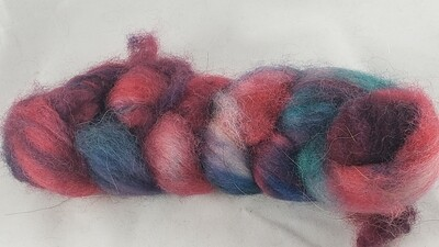 Little Gem | handdyed fiber braid for spinning