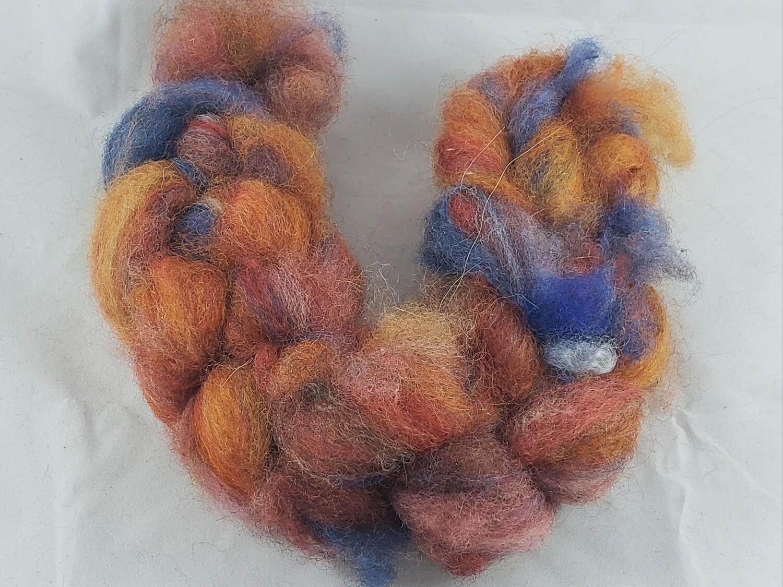 Carnival | handdyed fiber braid for spinning
