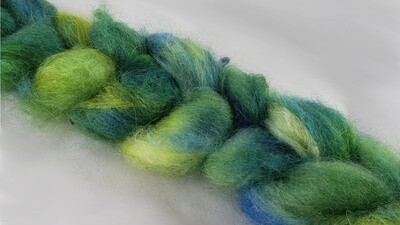 River Moss | handdyed fiber braid for spinning