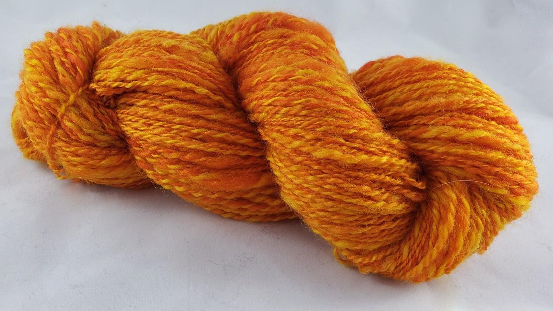Sun Dragon Egg   handdyed & handspun yarn