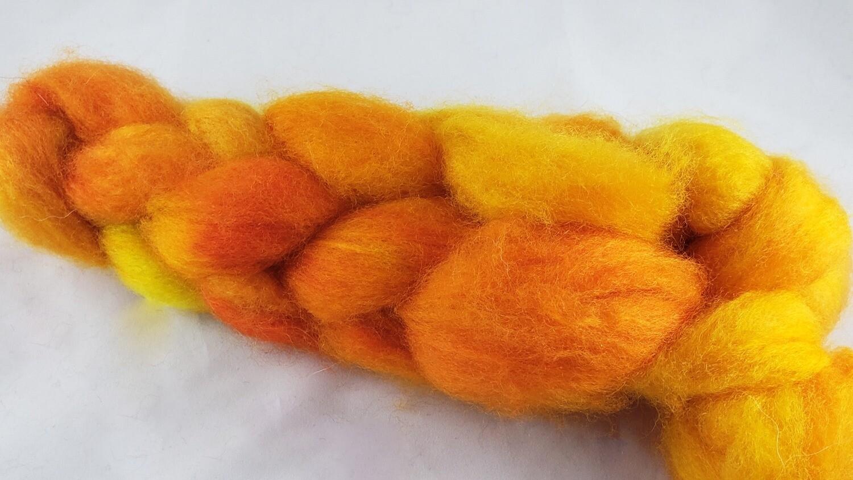 Sun Dragon Egg   handdyed fiber braid for spinning