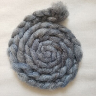 Stormy Summer Sky | handdyed fiber braid for spinning