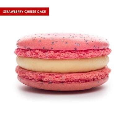 Premium XL Macarons Strawberry Cheesecake
