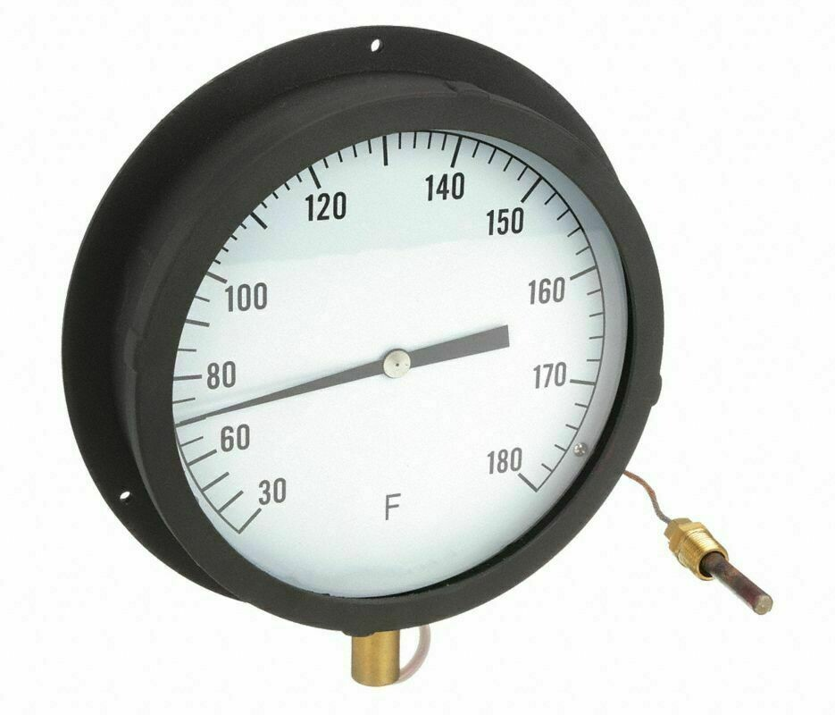 "Industrial Scientific Panel Mount Thermometer 30f to 180f 8.5"" 60"" tube"