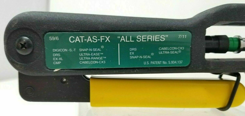 Ripley CAT-AS-FX Compression Tool Coax Cable Connectors Cablematic® 59/6 7/11