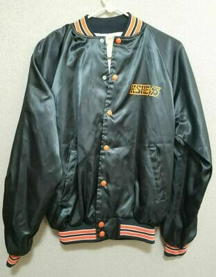 KSHE-95 Playboy's 30th Anniversary Trivia Winner Jacket Medium Black and Orange
