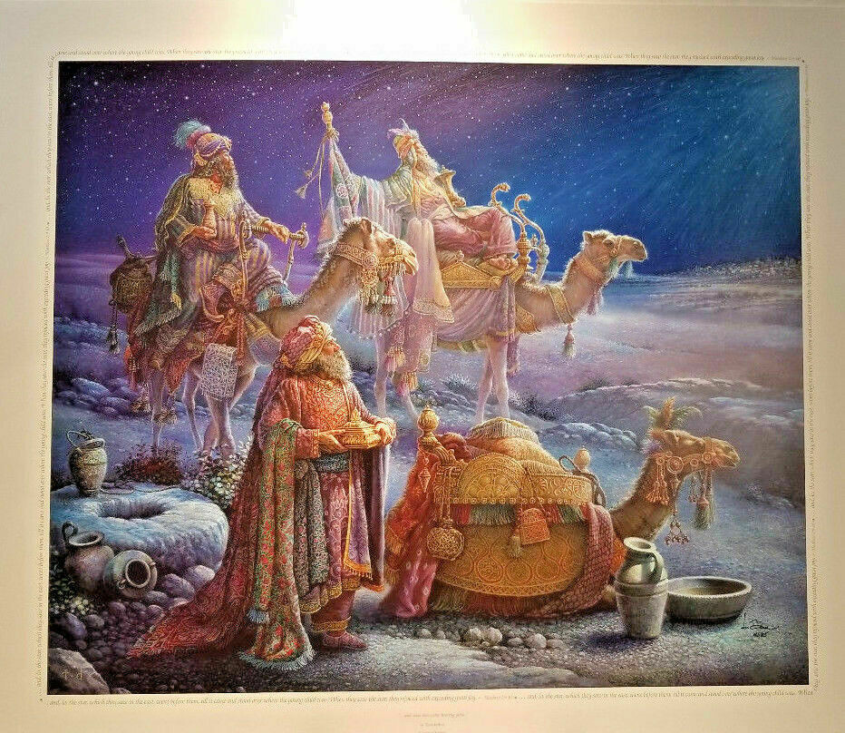 "And Wise Men Came Bearing Gifts Tom Dubois Signed Numbered COA 24"" x 28"" Print"