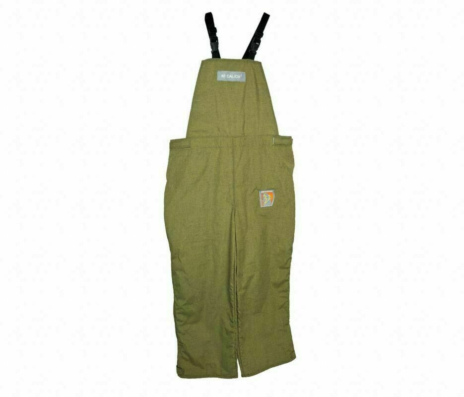 Honeywell Salisbury Arc Flash Bib Overalls 40 Cal 3XL Olive Green HRC 4