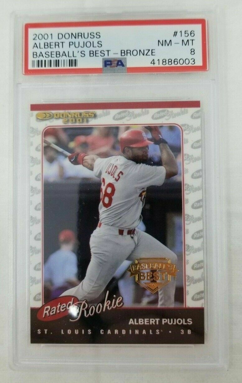 2001 Donruss Rated Rookie #156 Albert Pujols RC #156 NM-MT 8
