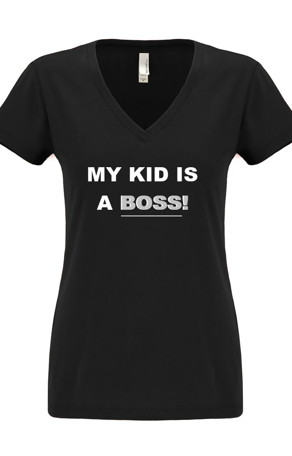 Women's Kid Boss - Black T-Shirt