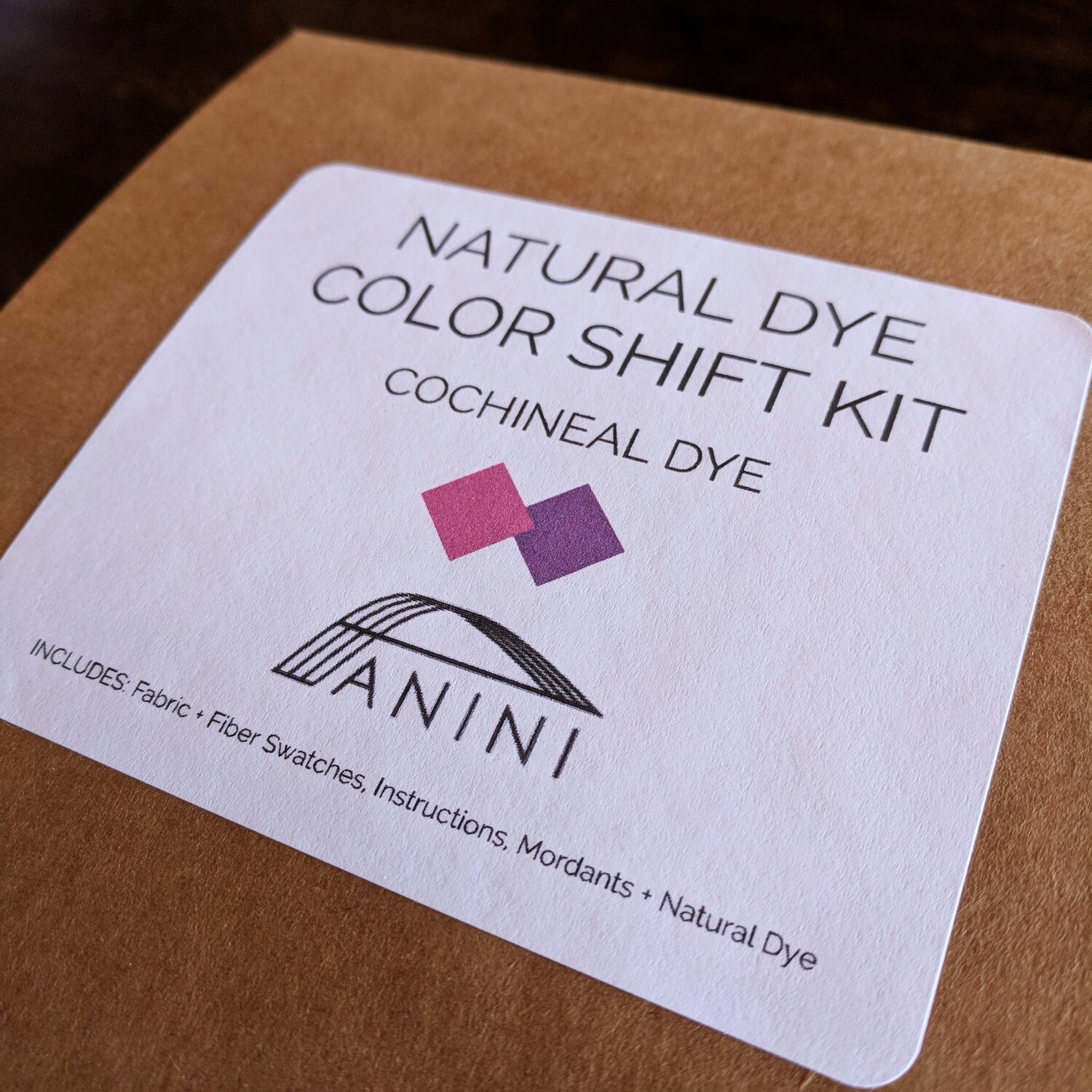 NATURAL DYE - COLOR SHIFT KIT - COCHINEAL