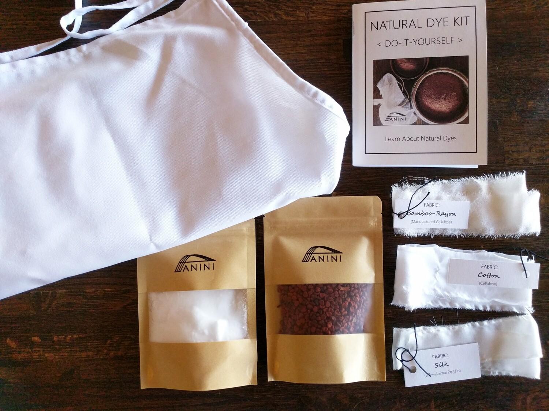 NATURAL DYE KIT - DYE-IT-YOURSELF - 100% Cotton Apron