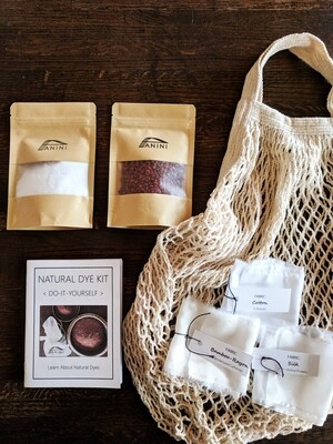 NATURAL DYE KIT - DYE-IT-YOURSELF - 100% Cotton Market Bag