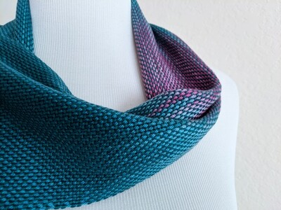 PURPLE TEAL OMBRE' - HANDWOVEN