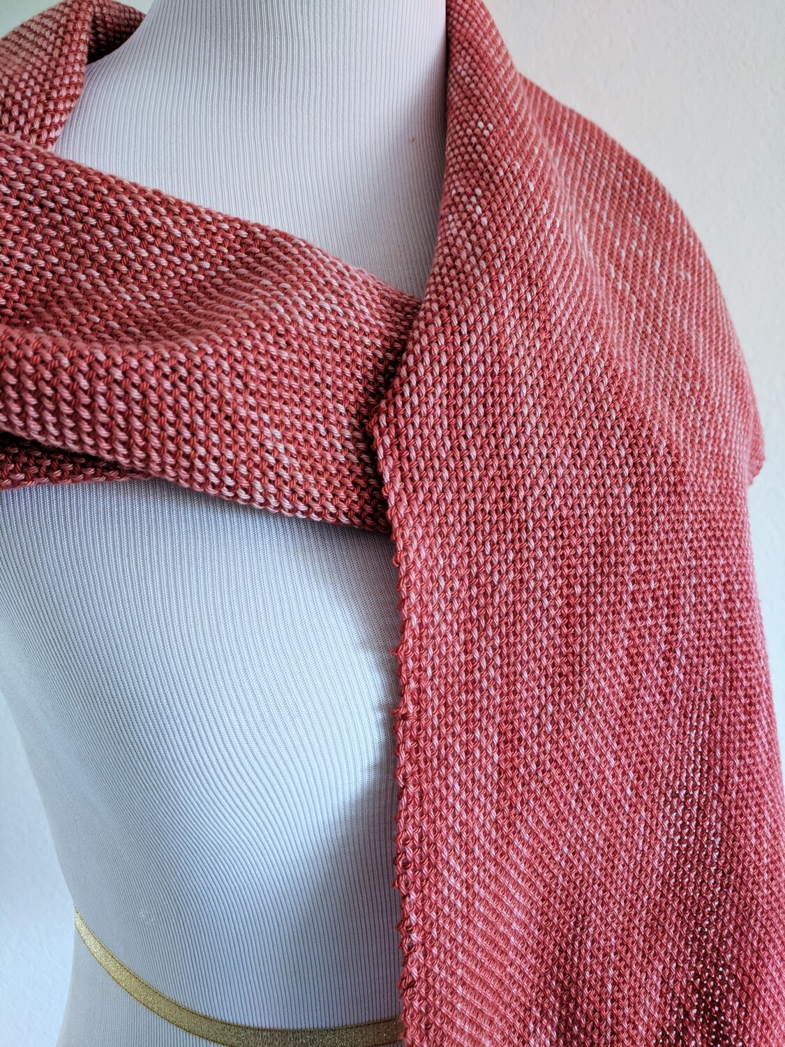 "RED OMBRE' - 66"" - HANDWOVEN"