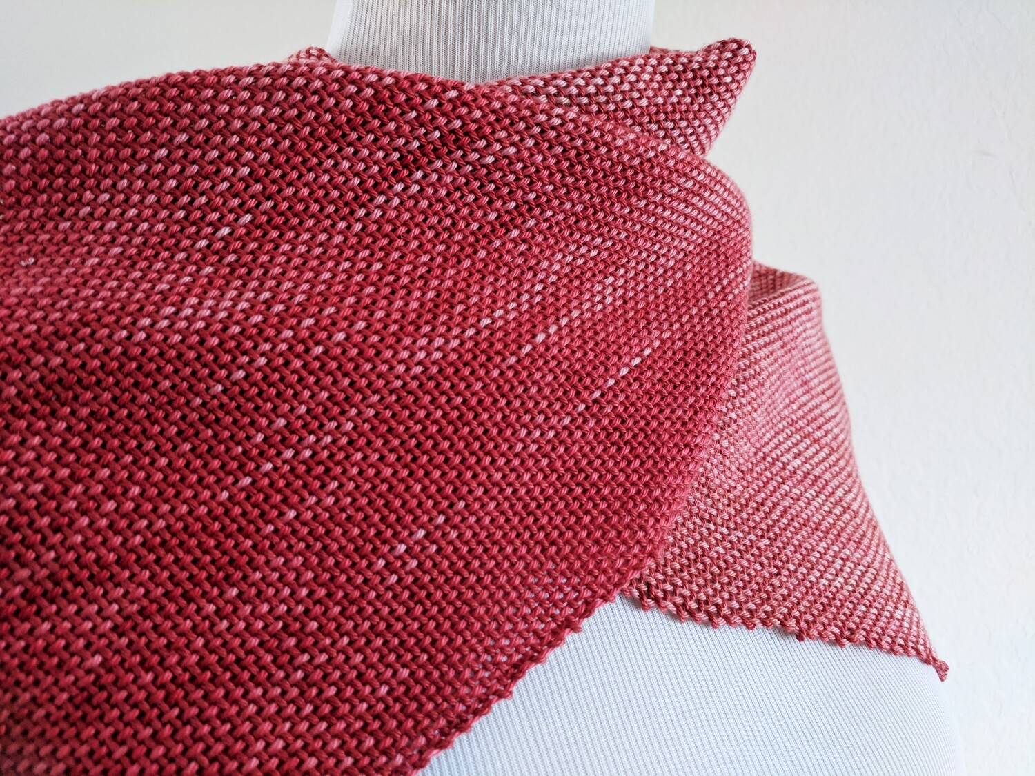 "RED OMBRE' - 61""- HANDWOVEN"