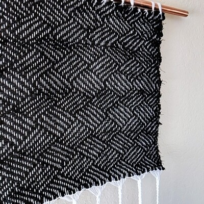 GEOMETRY RECYCLED WOVEN LINEN WALL HANGING