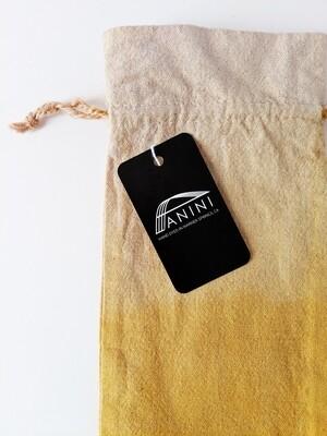 NATURAL DYE - LINEN GIFT BAG - OMBRE' YELLOW