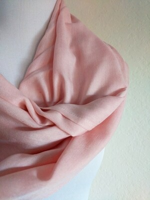 INFINITY SCARF - NATURAL DYE - EARTHY PINK