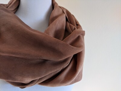 INFINITY SCARF - NATURAL DYE - DEEP FOREST