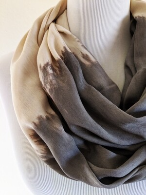 INFINITY SCARF - NATURAL DYE - ACORN + GALL