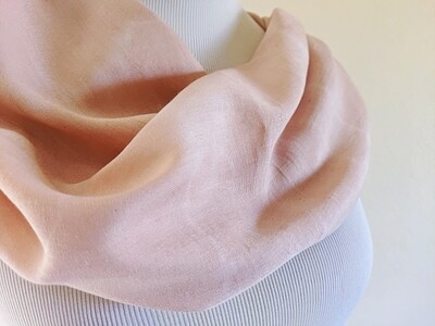 INFINITY SCARF - NATURAL DYE - PALE PINK