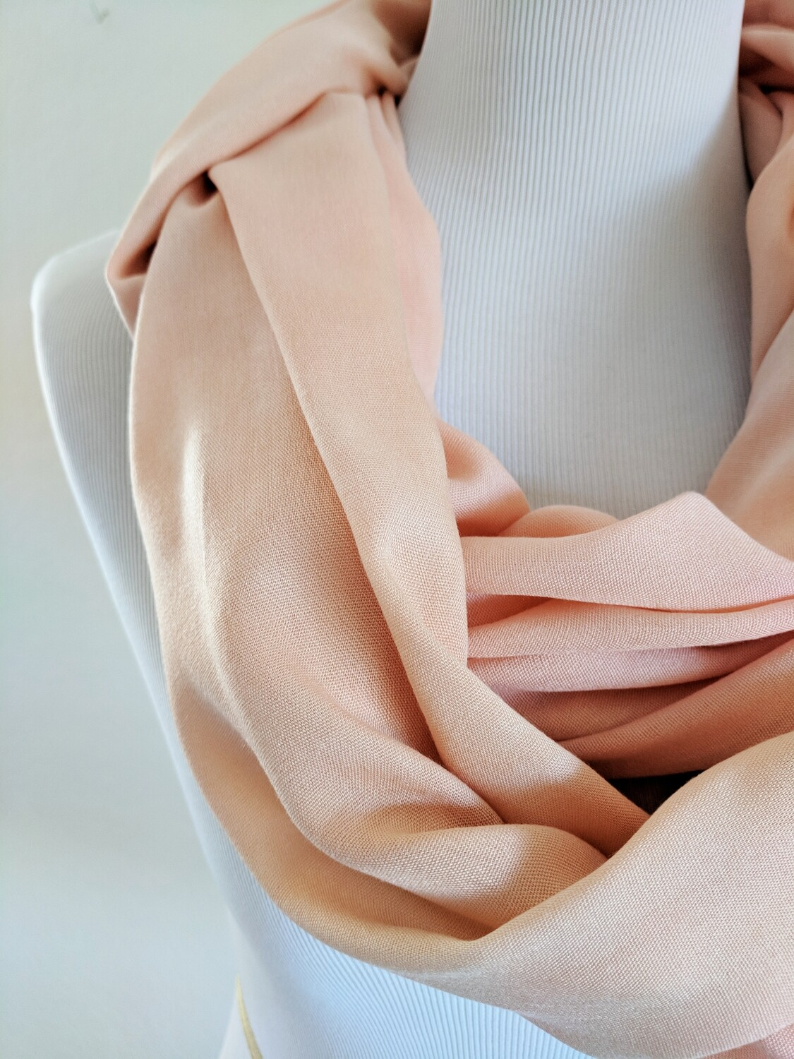 INFINITY SCARF - NATURAL DYE - PEACH SUNRISE