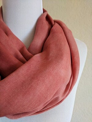 INFINITY SCARF - NATURAL DYE - FADED RED