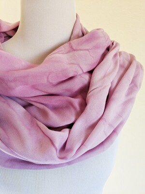 INFINITY SCARF - NATURAL DYE - LILAC SWIRL