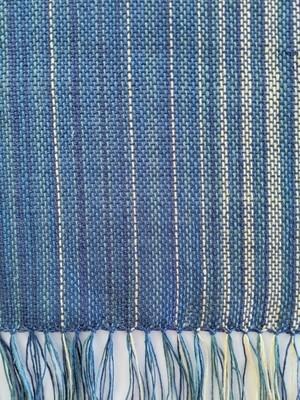 HANDWOVEN - MEADOW BLUE LINEN WOVEN MAT