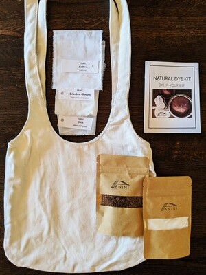 NATURAL DYE KIT - DYE-IT-YOURSELF - 100% Cotton Canvas Purse