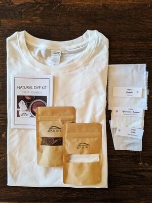 NATURAL DYE KIT - DYE-IT-YOURSELF - 100% Organic + Fair Trade Cotton T-Shirt