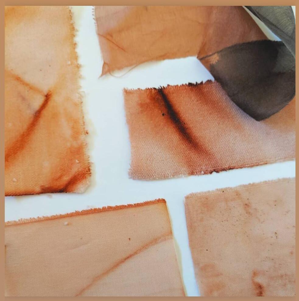 Natural Dye Velvet 1'x1' Square