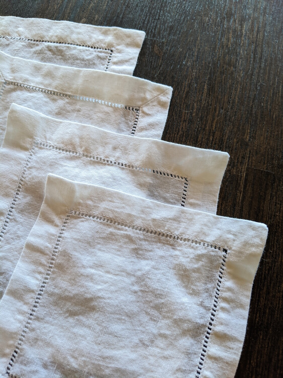 DIY SUPPLY - DYE IT YOURSELF - SET OF 4 LINEN COASTERS