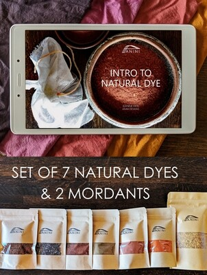 INTRO TO NATURAL DYE eBOOK + 7 NATURAL DYES + MORDANTS