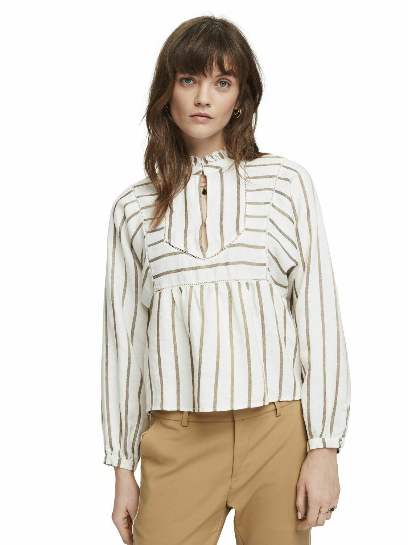 gold strip creme shirt