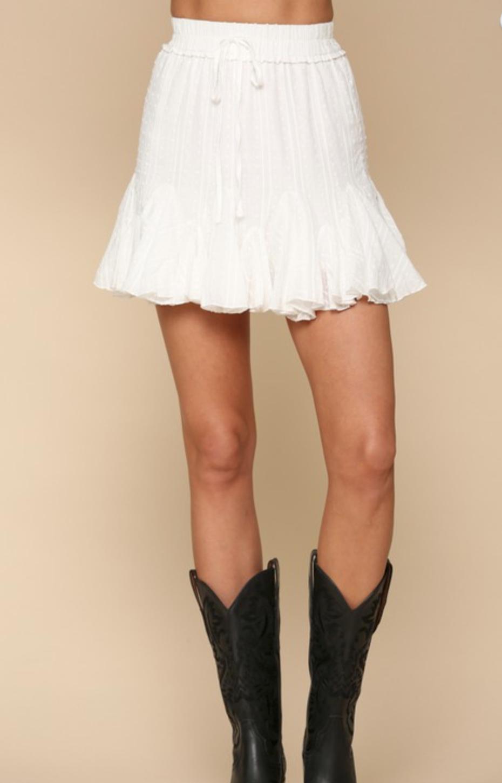 Highwaisted Eyelet skirt