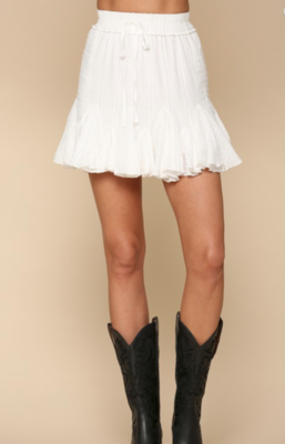 Highwaisted Eyelet skirt