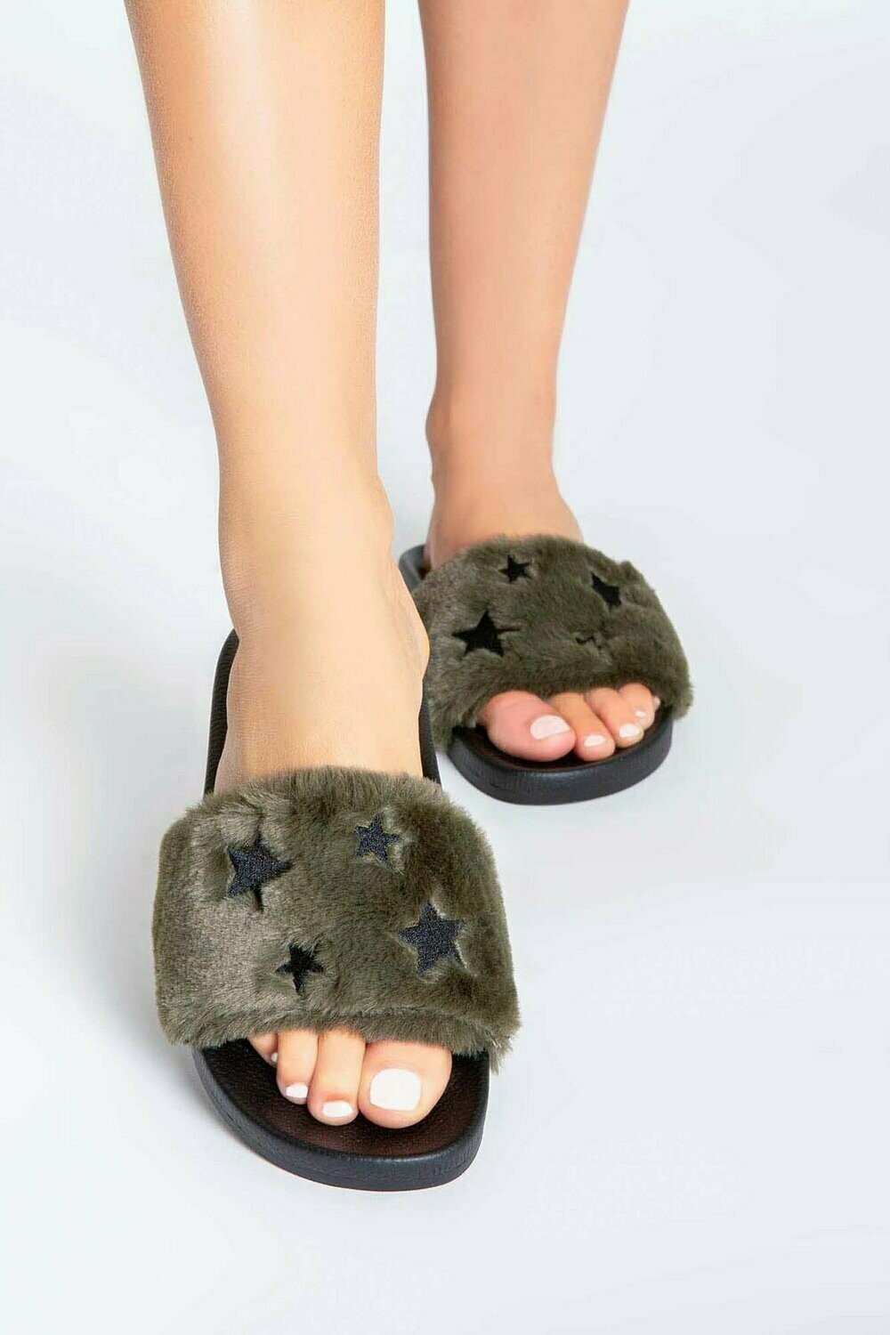 Olive Slipper Slide