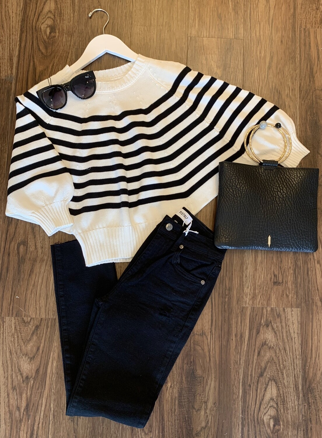 Bailey Striped Dolman Sweater