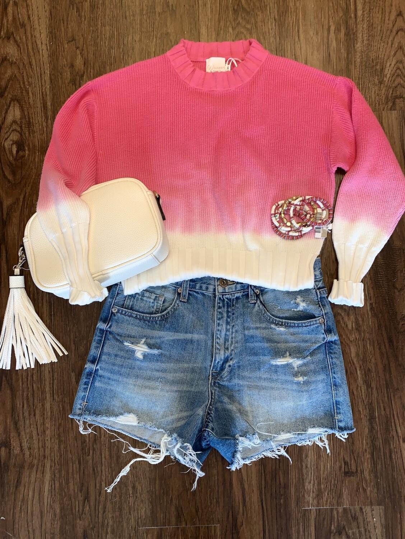 sophia dip dye hot pink