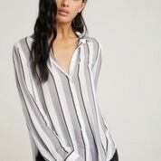 Flowy Button Down-Silver