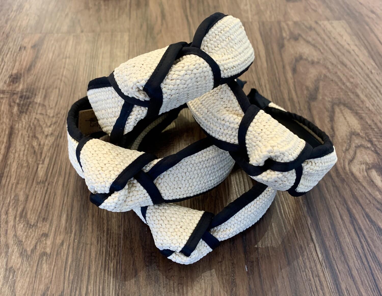 Straw blk headband