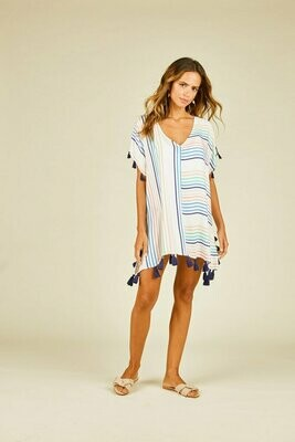 Candy Stripe Border Printed coverup